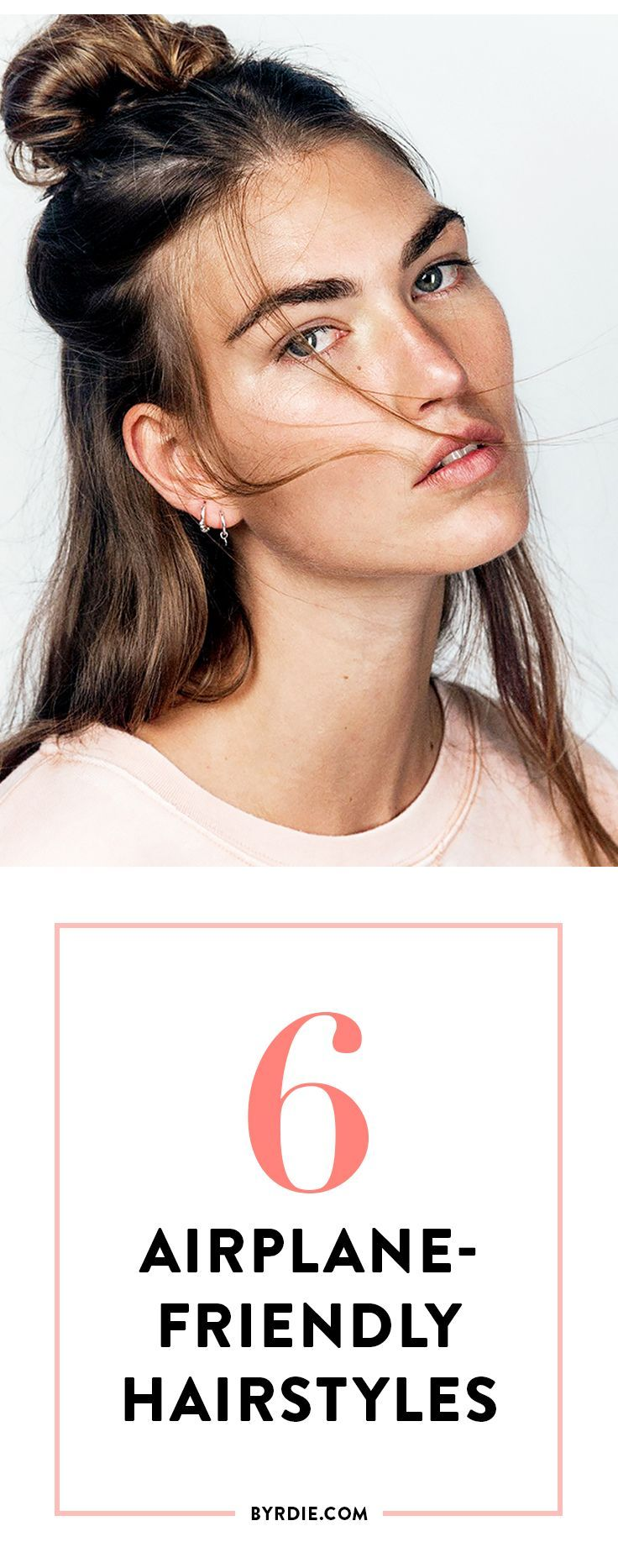 Hairstyles to wear while traveling via @byrdiebeauty