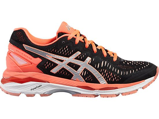 GEL-KAYANO 23 BLACK/SILVER/FLASH CORAL 3