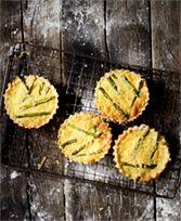 Mini-quiches met groene asperges