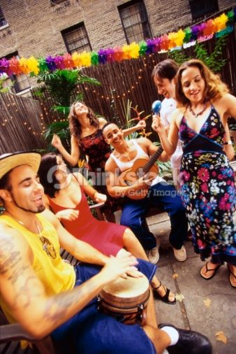 Stock Photo : Friends celebrating