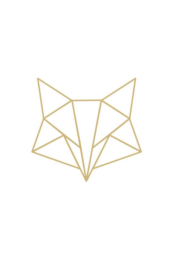 Instant download poster Poster geometric fox gold por QuoteMeTender