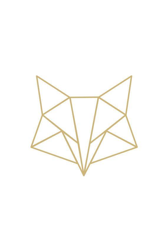 Instant download poster Poster geometric fox gold por QuoteMeTender