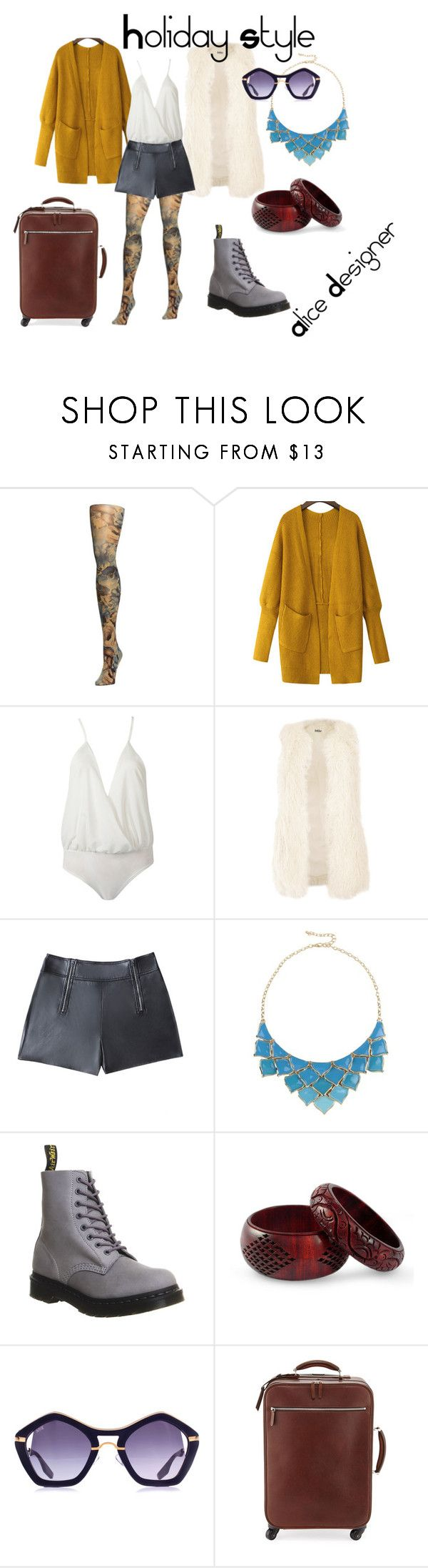 """Holyday Style NYC"" by alicedesigner on Polyvore featuring moda, Bebe, George J. Love, Dr. Martens, NOVICA, Brunello Cucinelli e holidaystyle"