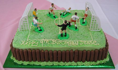 Soccer Theme Birthday Party Cake and Cupcake Ideas