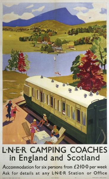 LNER - Camping Coaches in England and Scotland - what happened to them? See my Transport board and http://en.wikipedia.org/wiki/Camping_coach