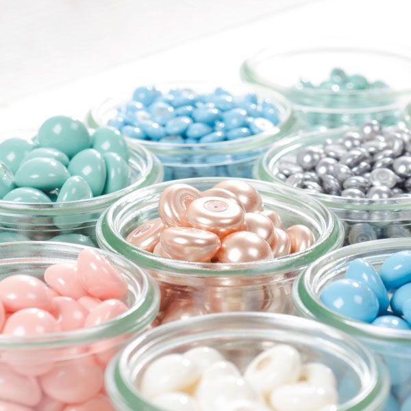 Neu bei uns im Glücksfieber Shop: Swarovski Crystal Pearl Cabochons in den Größen 8 mm und 16 mm für schöne Ringe, Ohrstecker und Anhänger!