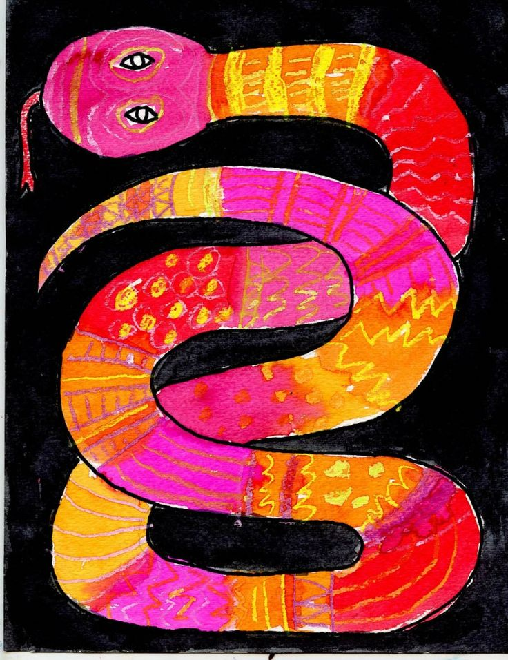 Pattern Overlapping Snake (Art Projects for Kids)