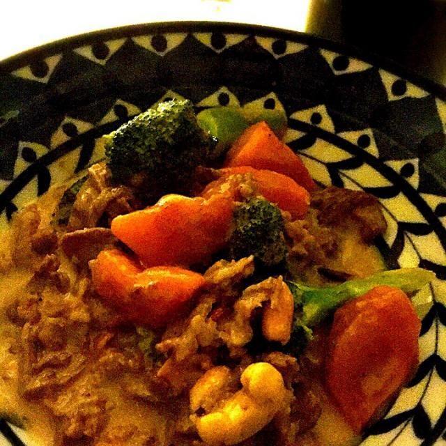 柿あま〜い、ピリ辛ミルキィ合いました♪( ´▽`) - 74件のもぐもぐ - 柿と牛肉、ブロッコリーで中華風ミルク煮! by Tina Tomoko