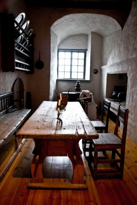 17th century kitchen room inside Turku castle, Finland