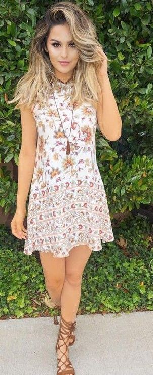 #summer ##style #outfitideas |  Floral Little Dress