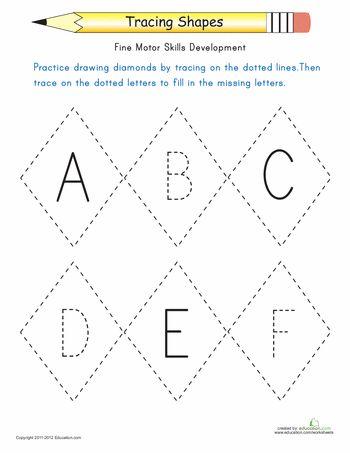 Worksheets: Tracing Diamonds