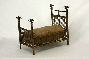 Antique German Miniature Doll House Four Poster Bed with Eagles ca1910 in Dolls & Bears, Dollhouse Miniatures, Furniture & Room Items | eBay