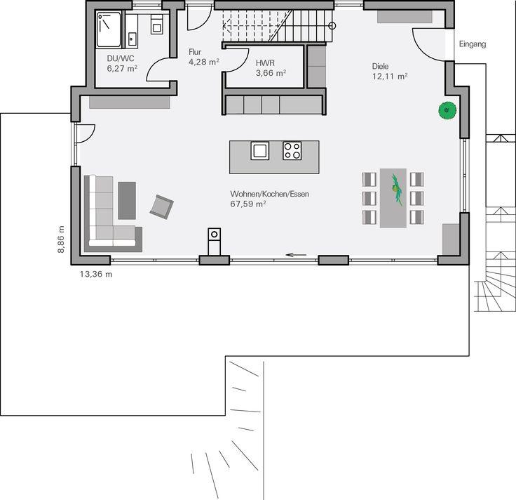 Moderne architektur häuser grundriss  234 besten House plan Bilder auf Pinterest | Grundrisse, Grundriss ...