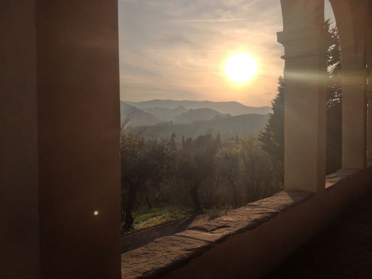 vista delle colline toscane dalla chiesa di Bonistallo