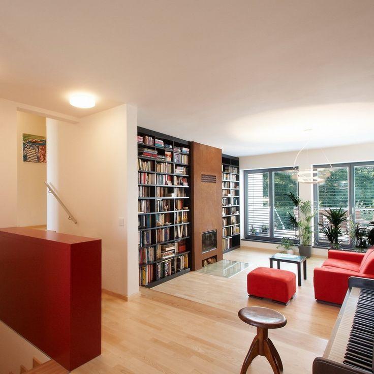 Obývačka v červenej