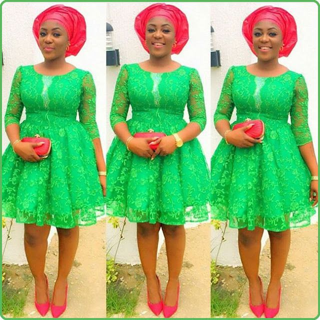 Lace dress styles in nigeria