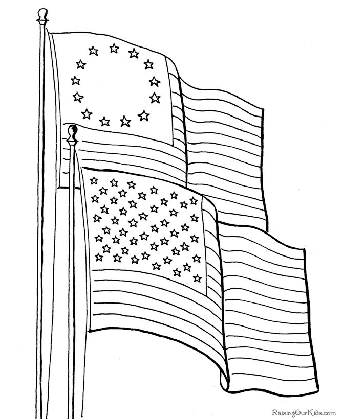 American flag history and coloring pages. Great for Flag Day! What do the stripes and colors represent? When was the last star added? ...