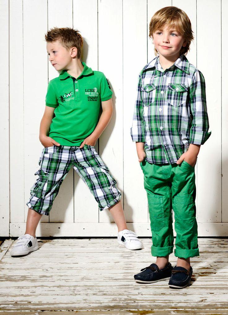 Kidsfashion LCEE BOY Korte Broek Trenton | Groen | Zomer 2014 | www.kienk.nl