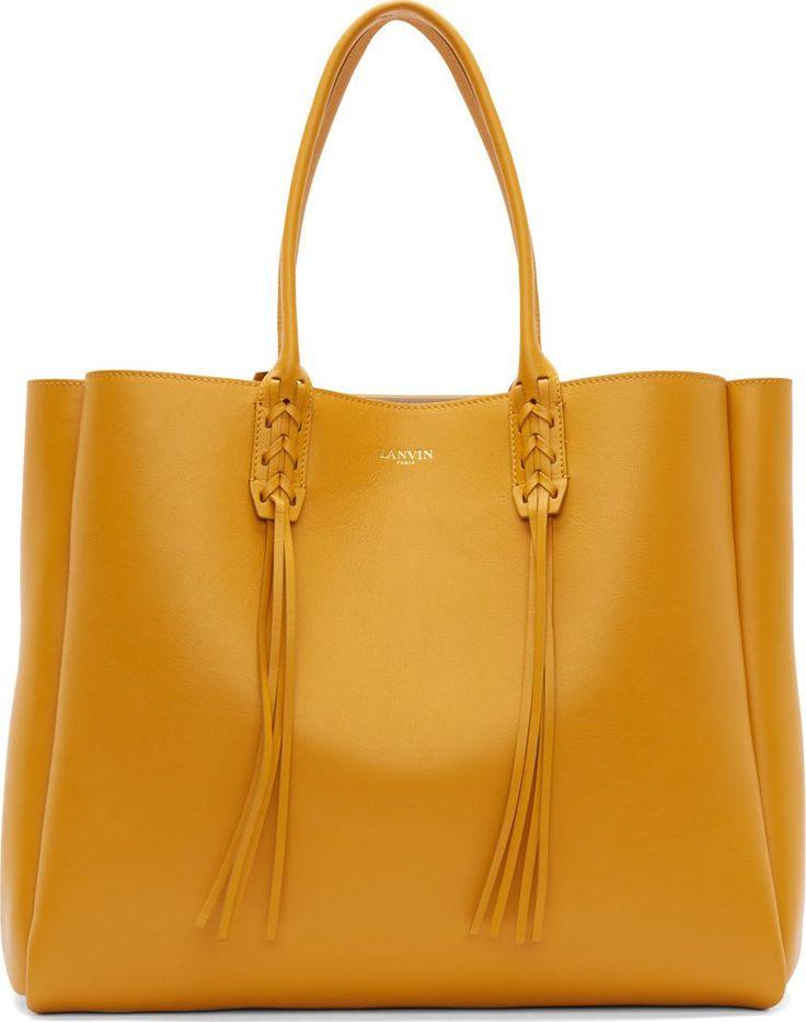 •Website: http://www.cuteandstylishbags.com/portfolio/lanvin-golden-yellow-calf-leather-fringed-shopper-tote-bag/ •Bag: Lanvin Golden Yellow Calf Leather Fringed Shopper Tote Bag