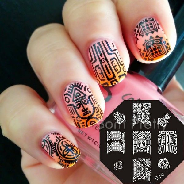 €2.33 Plaque De Stamping Intégrale Portraits Egyptiens #D14 - NeeJolie.fr. Stamping Nail Art
