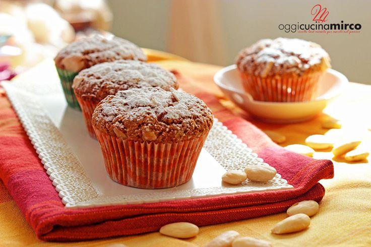 muffin al cioccolato bianco e mandorle