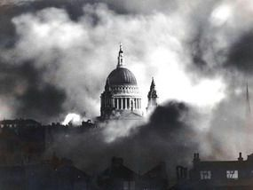 St. Paul's Cathedral, London Blitz, 1940.
