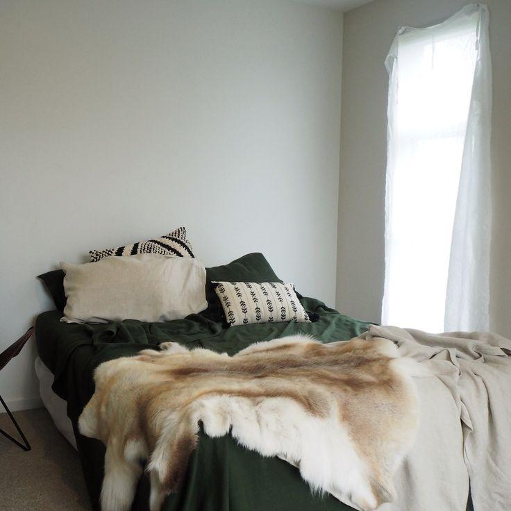 Forest Green Bed Linen - Linen Bedding online NZ
