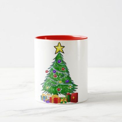 christmas tree holiday design mug design - home gifts ideas decor special unique custom individual customized individualized