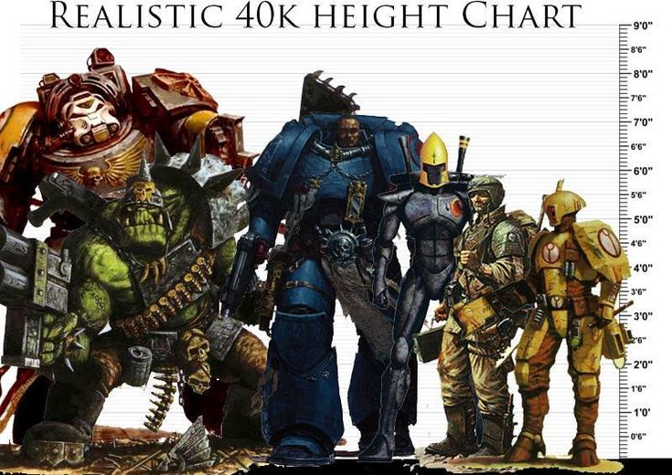 Warhammer 40k height chart
