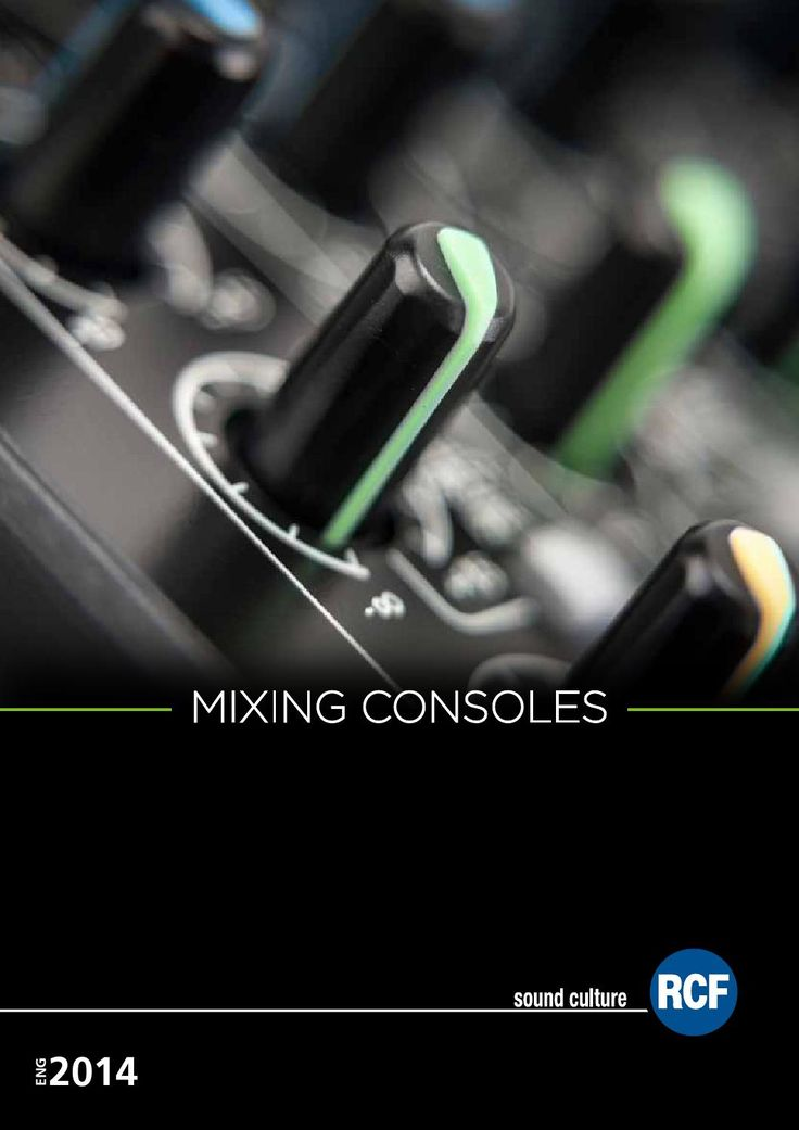 Rcf mixing consoles 2015