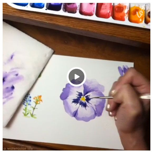 How to paint a watercolor flower. - www.awatercolorlife.com