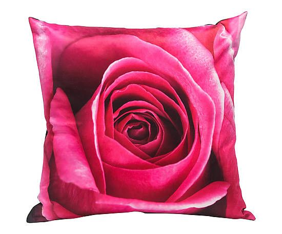 Coussin déhoussable ISA coton, rose et noir - 45*45
