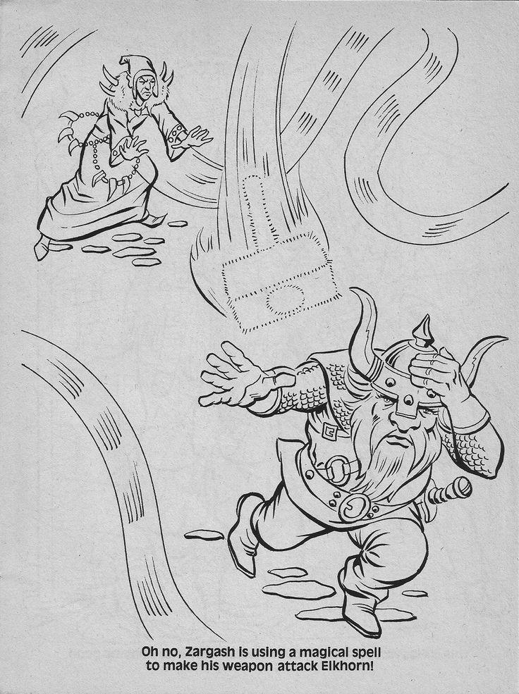 Adult Coloring Book Dragons Drawings