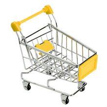 Nova crianças portátil Mini supermercado carrinhos de mão de compras carrinho utilitário modo de armazenamento Yellow Toy(China (Mainland))