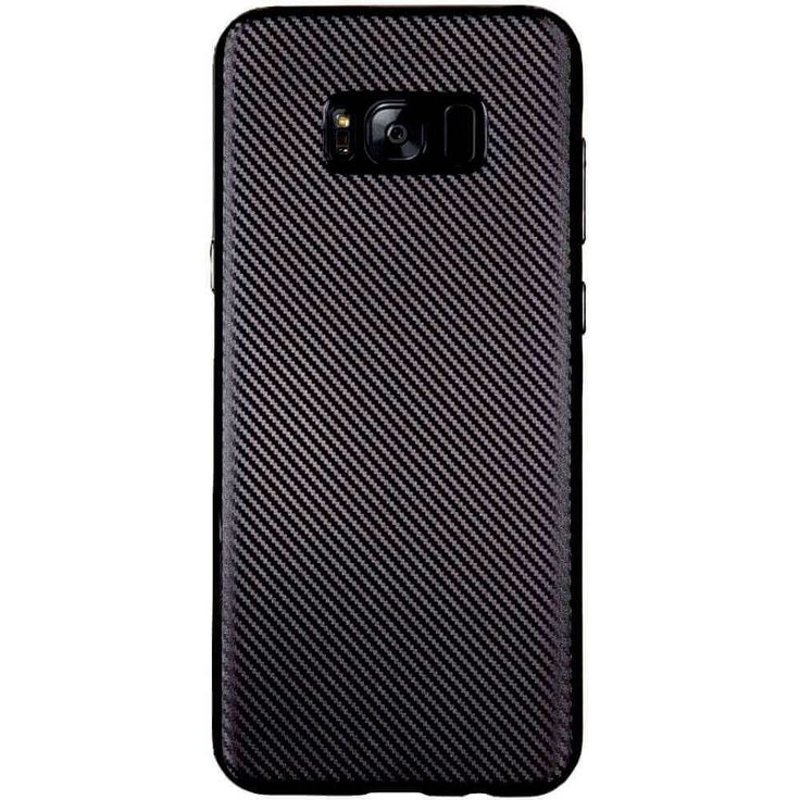 Husa din material TPU Gel Samsung Galaxy S8+ plus ultraslim negru carbon, ultrasubtire.  Spatele imita textura carbonului.  Material 100% Silicon durabil GEL TPU, inofensiv si sigur pentru organismul nostru, non toxic,    se poate spala , acces direct la toate porturile si butoanele fara a scoate din husa.  Aderenta buna atunci cand tineti in maini , ceea ce da confort.  Recomandam sa cumparati pe langa aceasta husa o folie de protectie pentru a proteja ecranul de zgarieturi, Husa la un pret…