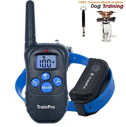 TrainPro Shock Collar for Dog Training | 330 Yard Rechargeable Waterproof e-Collar with Tone | Shock | Vibration | BONUS eBook and Dog Whistle For Sale https://shockcollarsfordogs.us/trainpro-shock-collar-for-dog-training-330-yard-rechargeable-waterproof-e-collar-with-tone-shock-vibration-bonus-ebook-and-dog-whistle-for-sale/