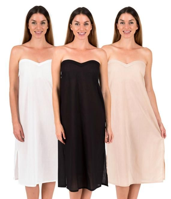 Long Cotton Slip Strapless Zara Maxi White Black Or Etsy Slip Dress Dresses Cotton Slip