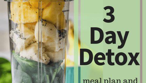 Post-Thanksgiving 3 Day Detox Meal Plan