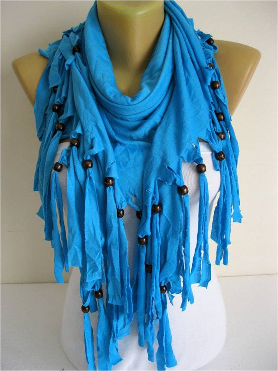 Trend Scarf Blue Scarf  Shawls-Scarves-gift Ideas by SmyrnaShop
