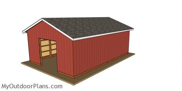 20x30 Pole Barn Free Diy Plans Myoutdoorplans Free Woodworking Plans And Projects Diy Shed In 2020 Pole Barn Plans Woodworking Plans Free Building A Pole Barn