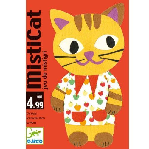 Un jeu de mistigri sur le thème des chats. Il faut associer les paires sans récupérer le misticat ! Dès 4 ans ou même avant. Et sans le misticat c'est ausii un jeu de memory!