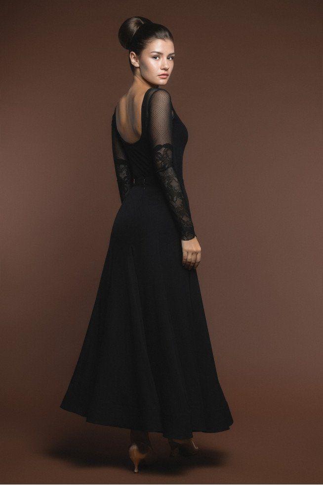 black ballroom skirt from dancewear for you australia