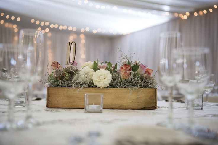 Wooden Table numbers by Grapevine design