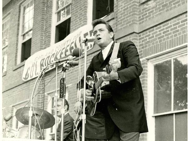 In the late summer and fall of 1968, Johnny Cash traveled throughout his native Arkansas with Winthrop Rockefeller, the first Republican governor of the state...