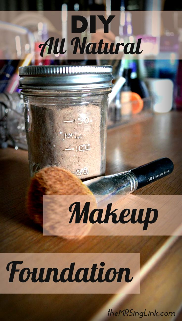 How to make your own diy makeup foundation | All natural makeup foundation powder | All ingredients you can find around the house
