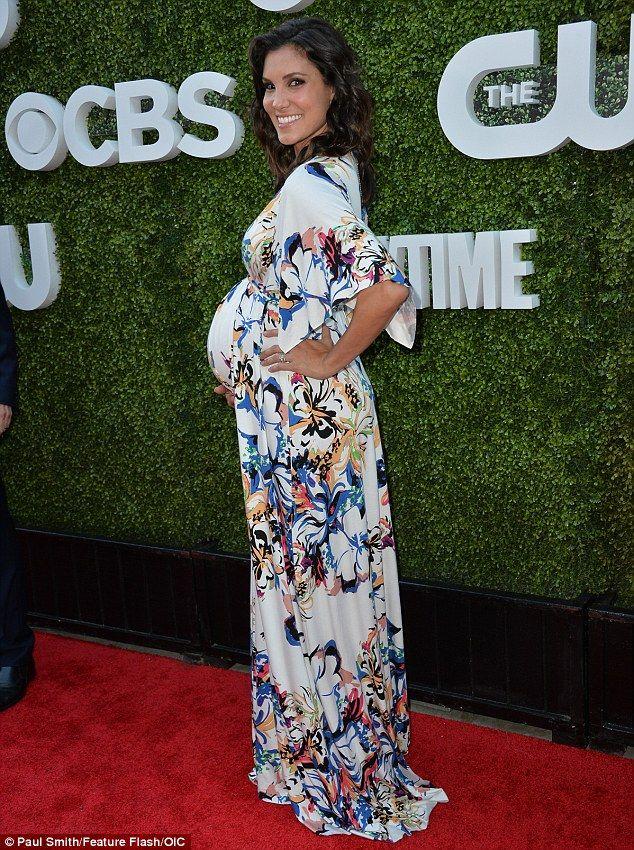 Pretty as a petal! NCIS actressDaniela Ruah showed off her burgeoning…