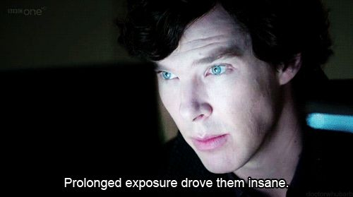 """""""BBC Sherlock Fandom described in 5 words. I am laughing out loud at this."""""""