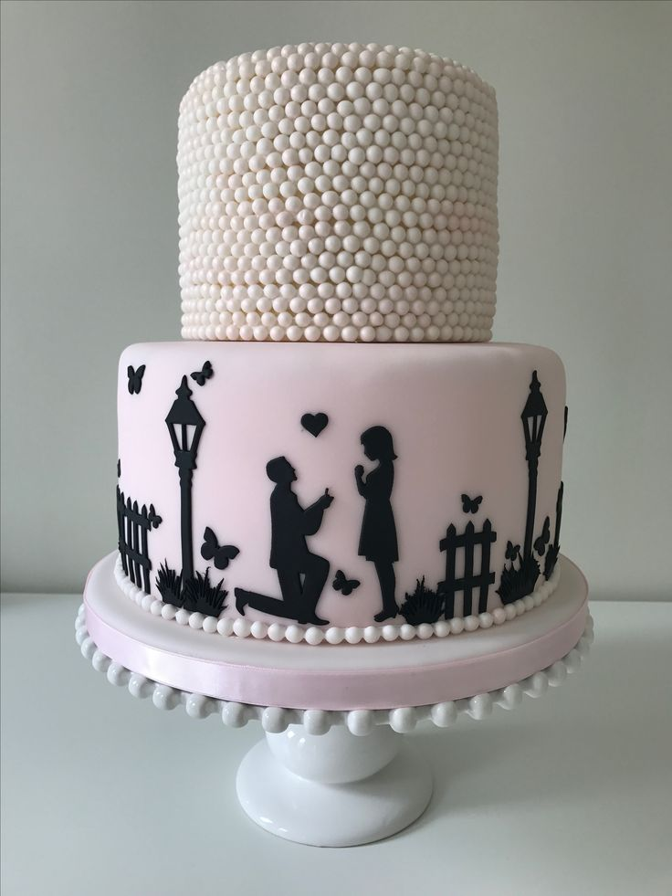 Silhouette and pearl cake by Plumtree Bakehouse