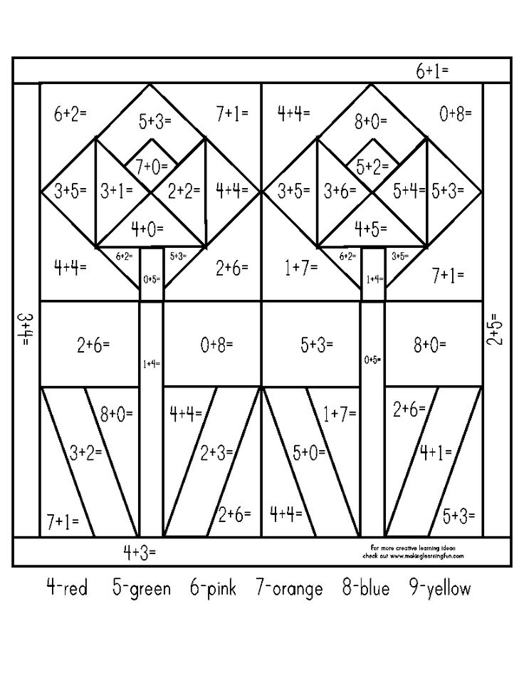 spring 1st 2nd addition color by number homeschool teaching math math addition math. Black Bedroom Furniture Sets. Home Design Ideas