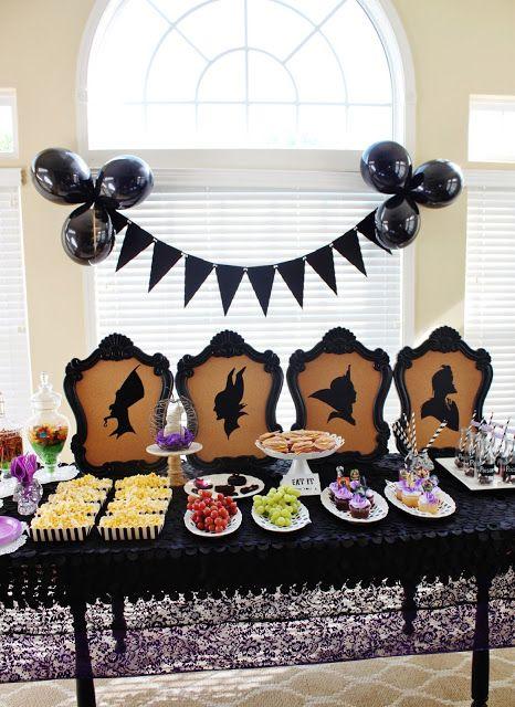 Disney Villains Party + Free Descendants Printables ! Love my silhouette!